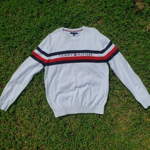 Used Tommy Hilfigher White Sweater